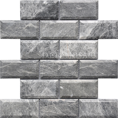 Italy grey bevel marble mosaic for kitchen backsplash