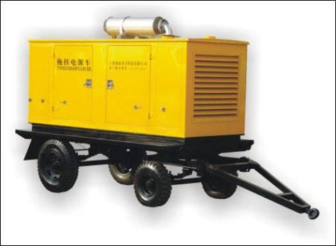 diesel generator set with trailer
