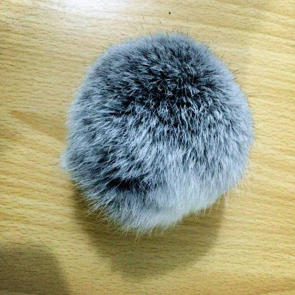 2016 real rex rabbit fur pompom