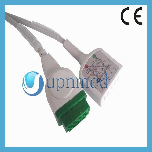 GE Dash2500 Oximax 3-lead ECG Trunk Cable,U302-22G3A,U302-22G3I