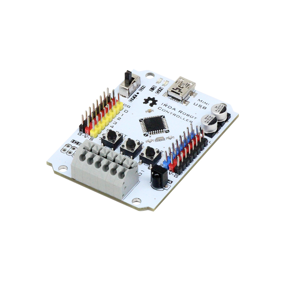 Ruilongmaker IRDA robot controller compatiable Arduino UNO with 2 DC motor Driver, infrared remote