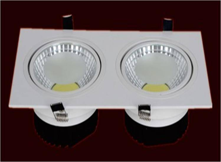 LED COB Downlight Double-ends Square type All white paint from shenzhen