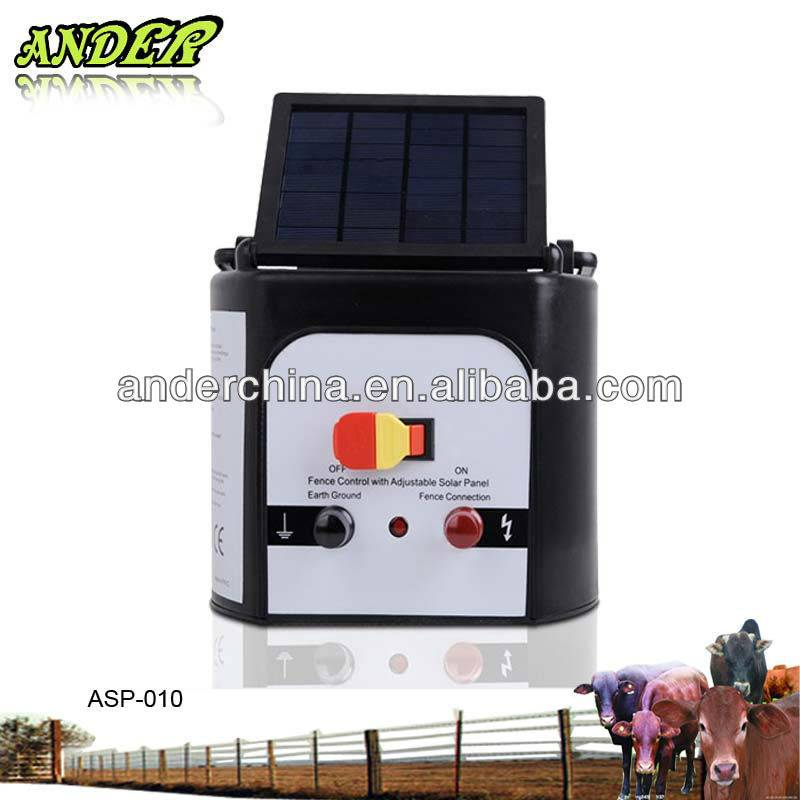 3km Solar Panel Powered Electric Fence Energiser