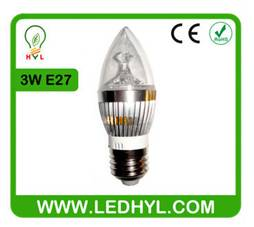 2014 new design high lumen E27 3w led candle light