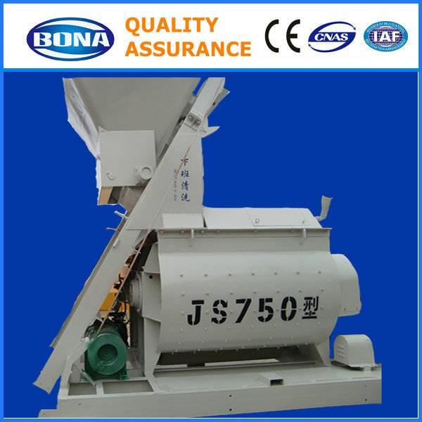 JS750 electric twin shaft mix concrete machine