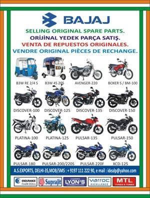 Sell Spare Parts/Yedek Parca/Piezas de Repuesto for Bajaj Scooters,Motorcycles