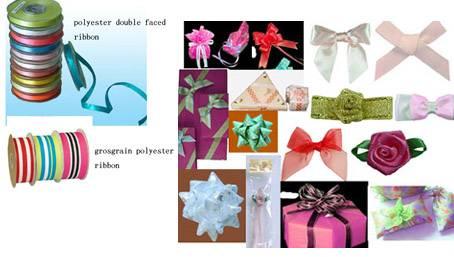 polyester ribbon, grosgrain,  bow