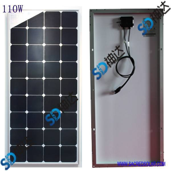 110W ground system solar panel