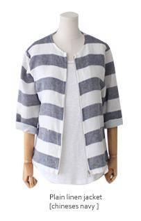 plain linen jacket