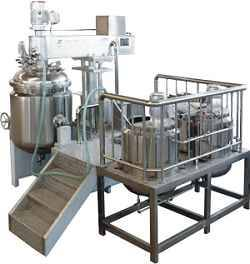 Vacuum equipment homogeneous emulsion
