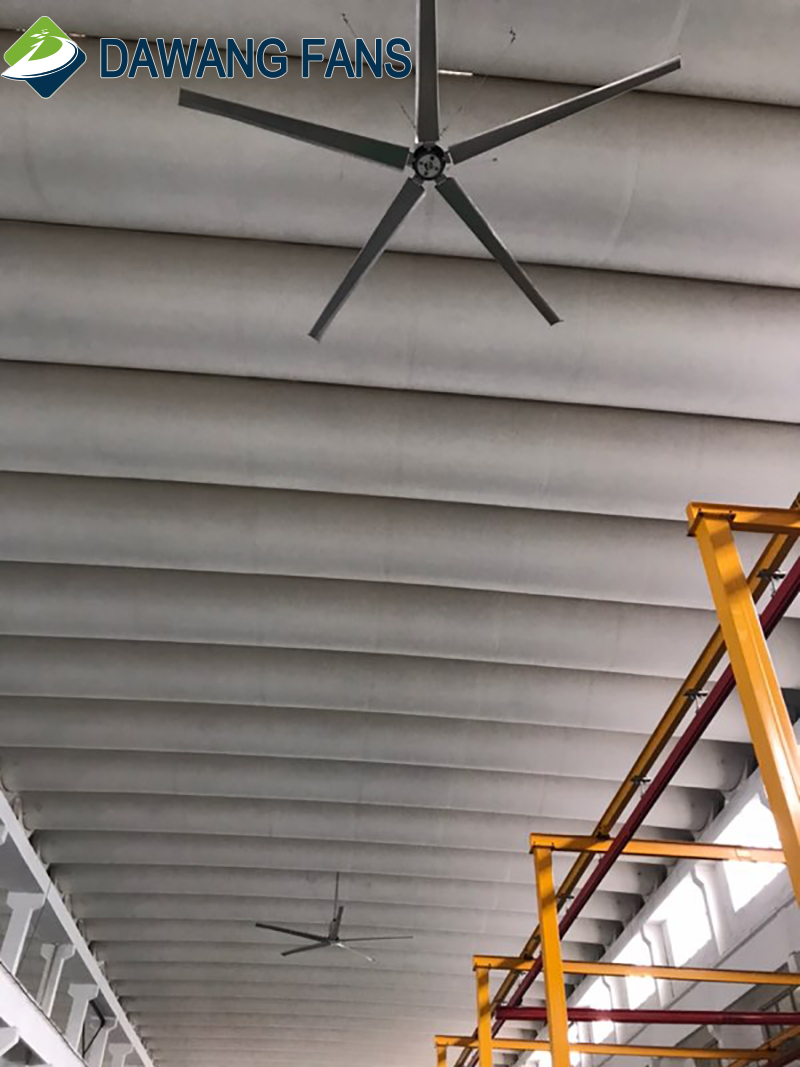 Waterproof Alloy Blade Air Cool Industrial Ceiling Fan for HVLS
