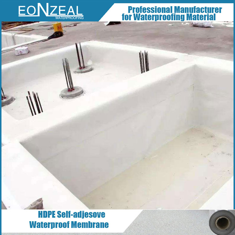 Foundation Waterproof Pre-Applied HDPE Self-Adhesive Waterproofing Membrane