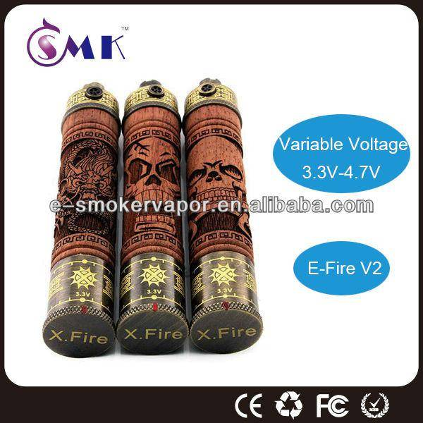 Hot new products for 2014: e fire ecigarette with pure wood material made in China