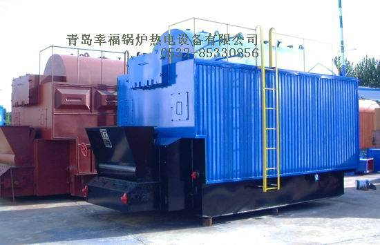 Coal fired threaded pipe hot water boiler