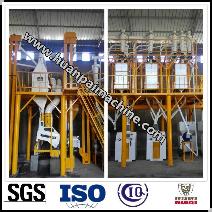 corn grits processing plant
