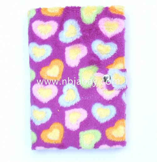 purple flower plush diary for girls