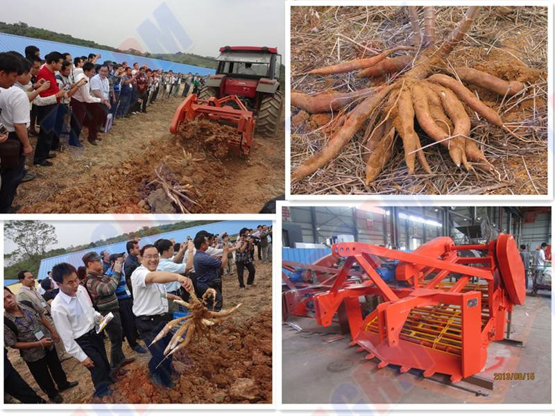 2014 Newest one row/double rows cassava root harvester equipment