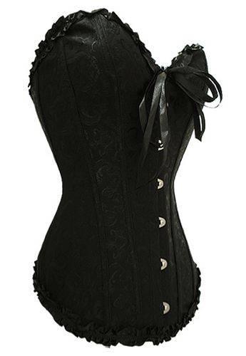 Plain black corset bustier top Waist Cincher Shaper Elegant corsets
