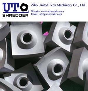 Single shaft shredder S66250 for tire rubber shredder crusher recycling