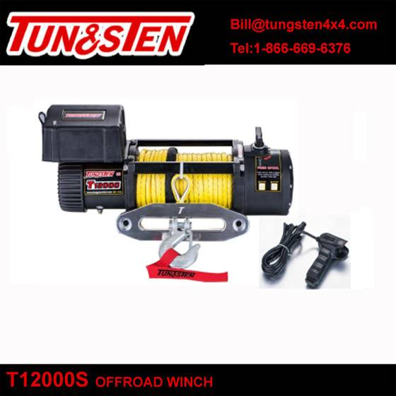 Tungsten 4wd off-road winch T12000S 12000lbs pulling