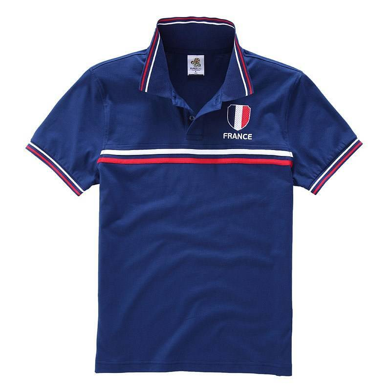 Europe Contrast Short Sleeve Polo shirt (Men) Blue