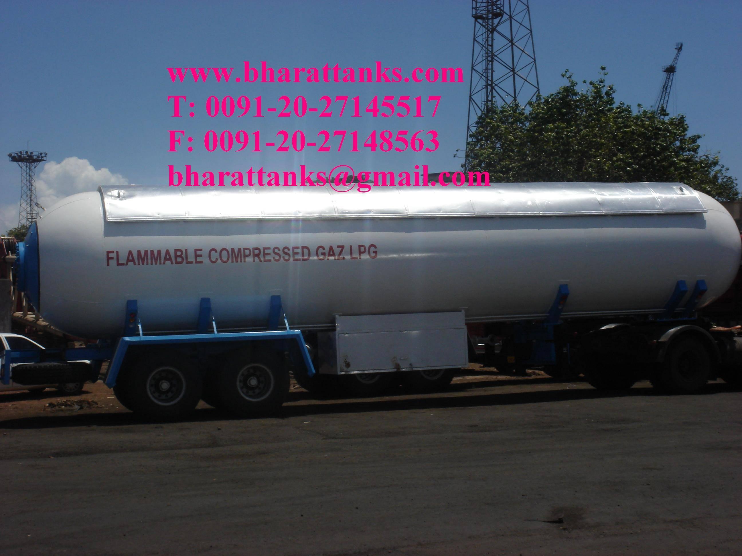 propylene gas transport tanks