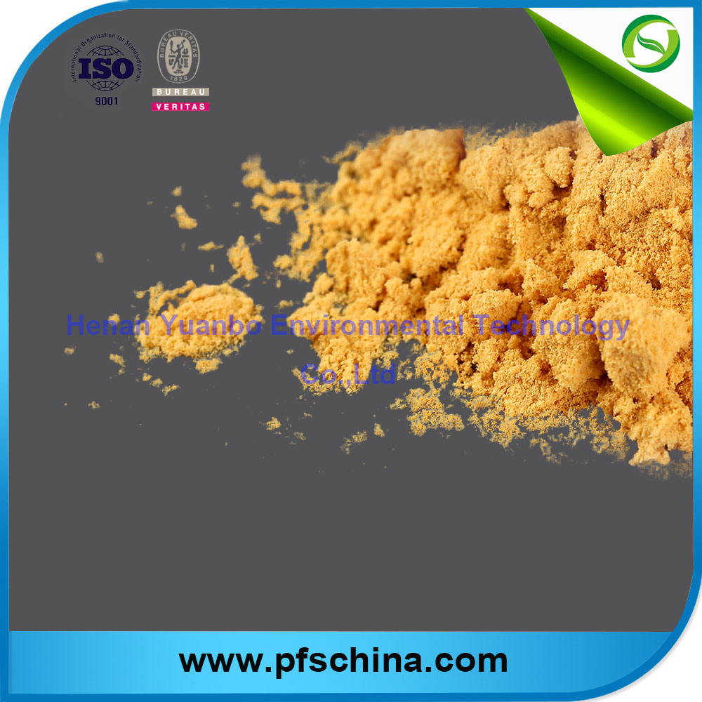 Light Yellow Polymeric Ferric Sulfate(PFS) for industrial use
