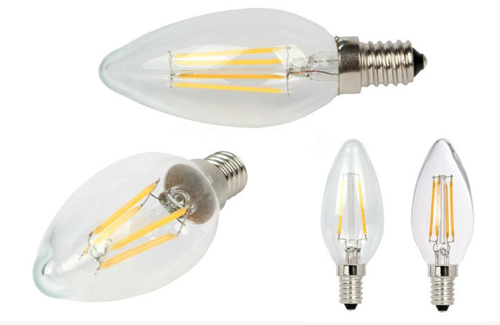 LED Candle filament bulb C35 with CE& RoHS approval