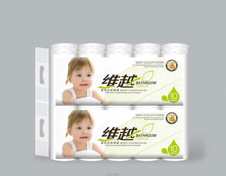 Plastic Packaging PE Bag For Toilet Tissue Carrying