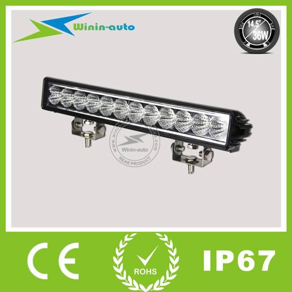 14.5 36W Single Row Epistar LED Light Bar LED work light bar for ATV SUV 2700 Lumen WI9013-36