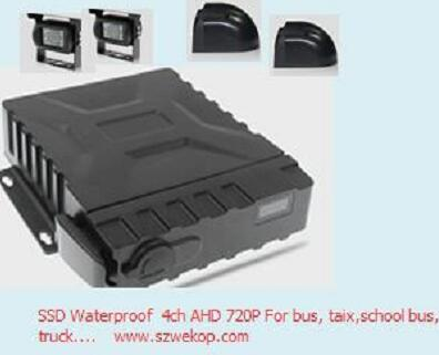 4ch 720p SSD mdvr gps 3g wifi Mobile DVR / MDVR for school bus cctv system