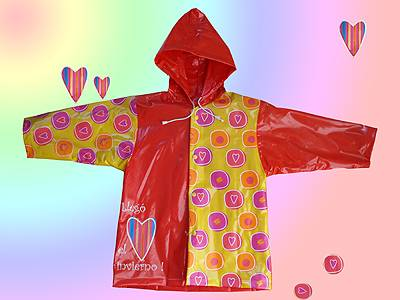 PVC Girl's raincoat