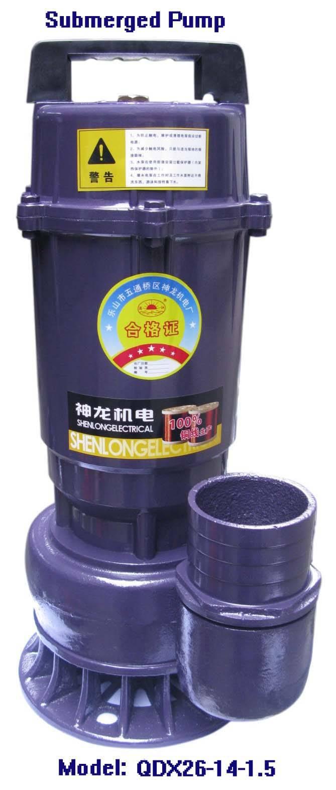 Electric Submerged Pump-QDX26-14-1.5