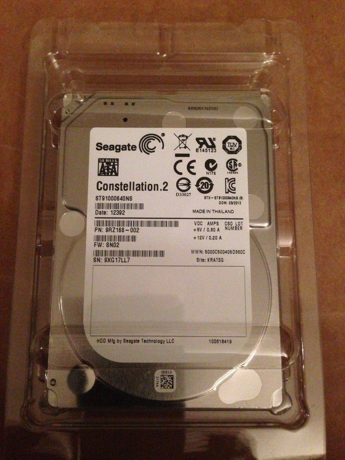 Seagate Constellation.2 ST91000640NS 1 TB 7200RPM SATA 6Gb/s 64MB Cache 2.5-Inch