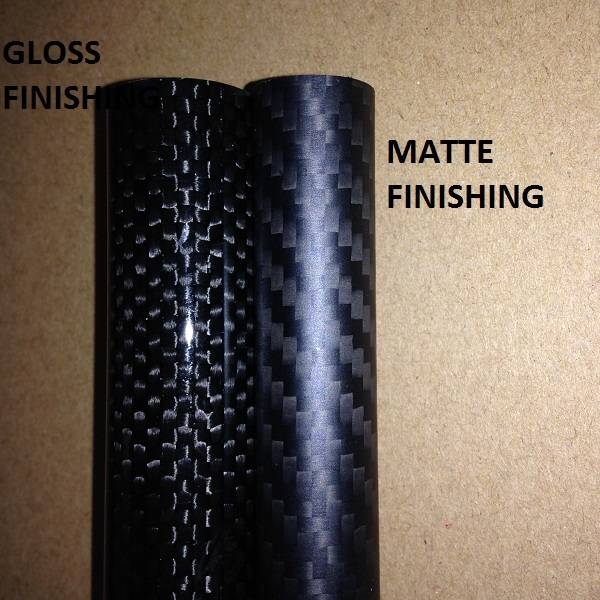twill and plain weaved carbon fiber tubes