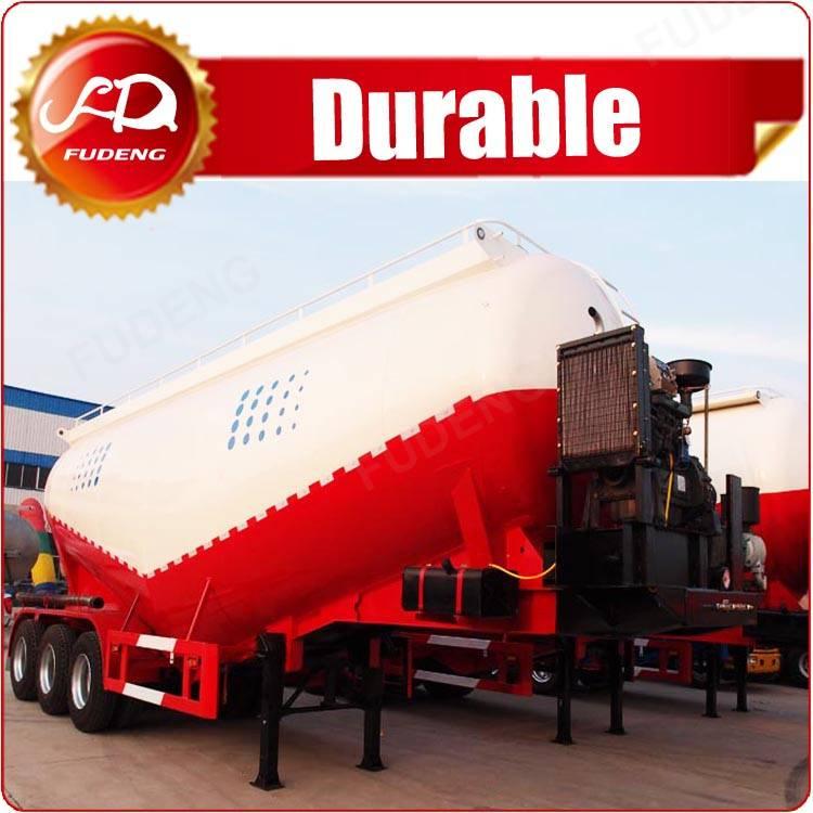 Fudeng 40cbm V shaped bulk cement tanker,bulker for transport Barite