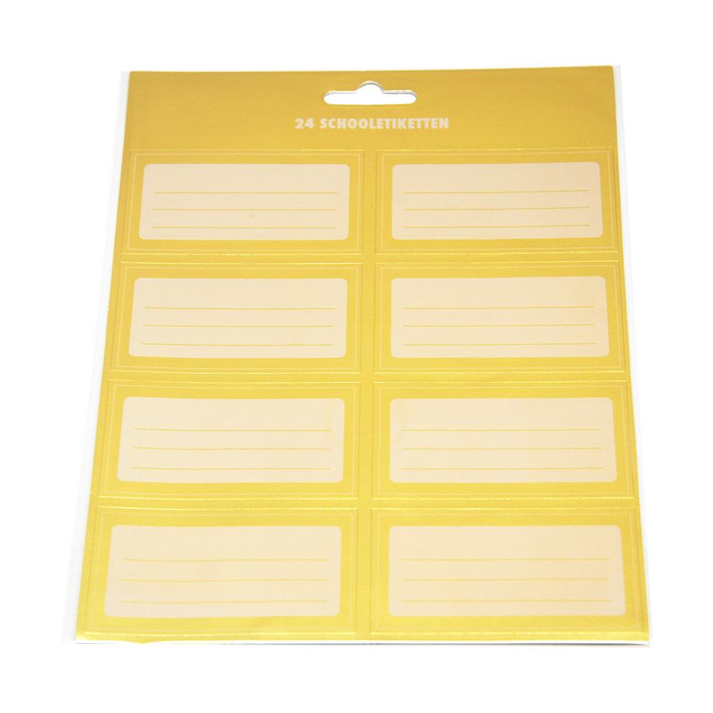 Golder Color School Label