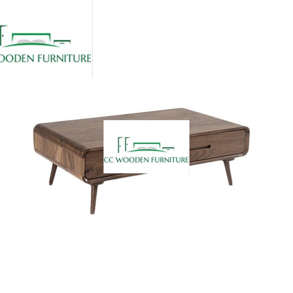 Nordic minimalist coffee table black walnut wood coffee table