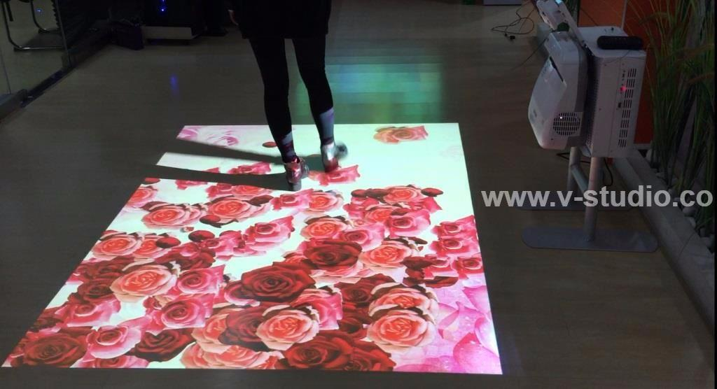 Interactive Floor And Wall Projection by V-Studio