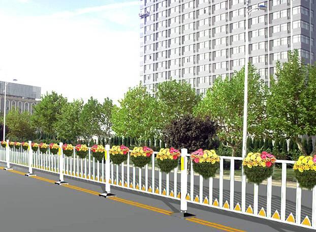 road landscape isolation fence/barrier