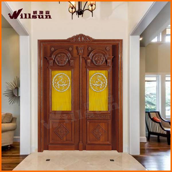 Luxurious solid wood door for exterior with high quality