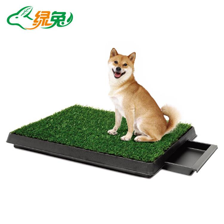 Removable Tray Drawer Dog Toilet with Lawn
