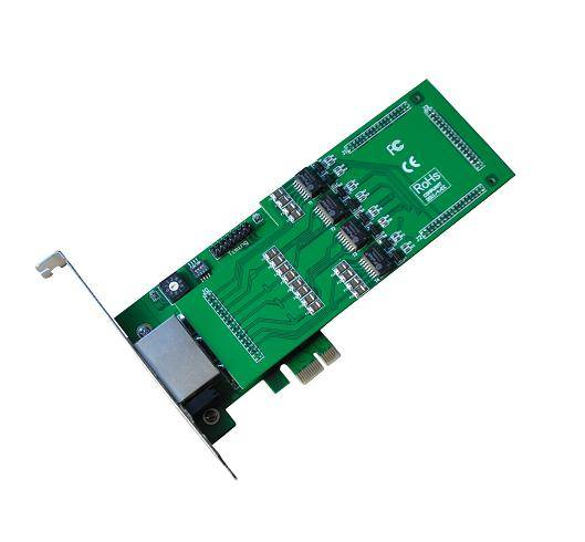 Well-content 4 ports asterisk digital card with pci express interface