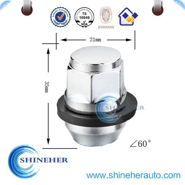Grade 8 car wheel nut with washer for Ford