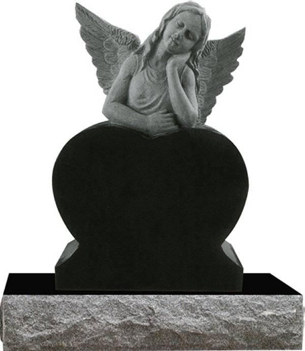 western style angel headstone