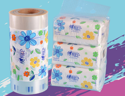New design custom print tissue wrap plastic packaging laminating roll film