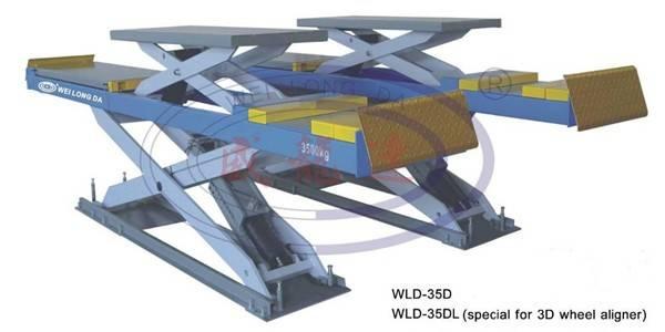 WLD-35D/35DL/35DLL double deck wheel alignment car scissor lift 3500kg