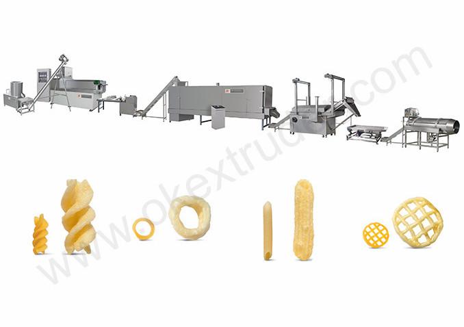 Fried Potato Pellet Chips 2D 3D Chips Production Line