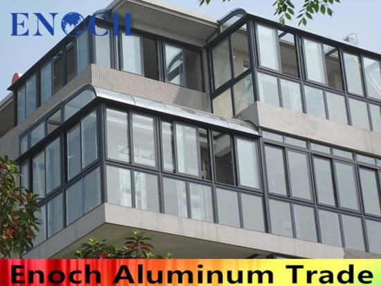 green color beautiful high quality aluminum window ENC1005