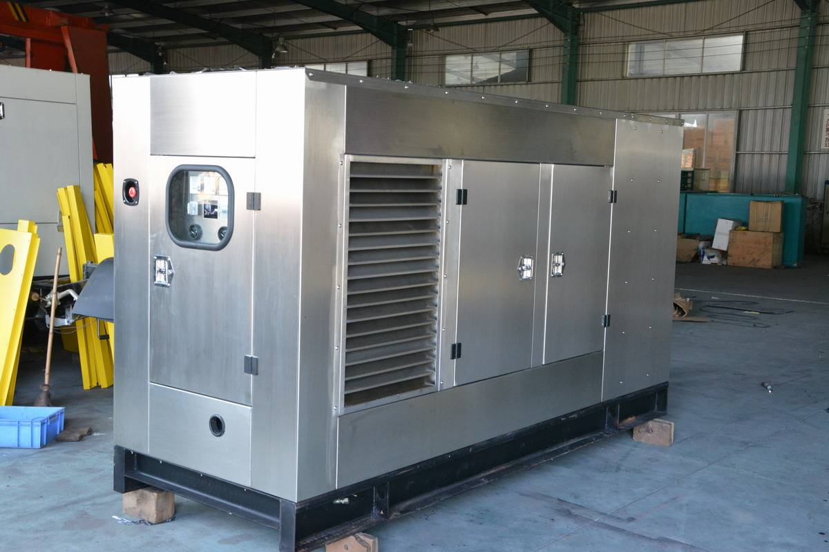 Soundproof Genset Powered by Cummins Water Cooled Diesel Engine Leroy Somer Alternator
